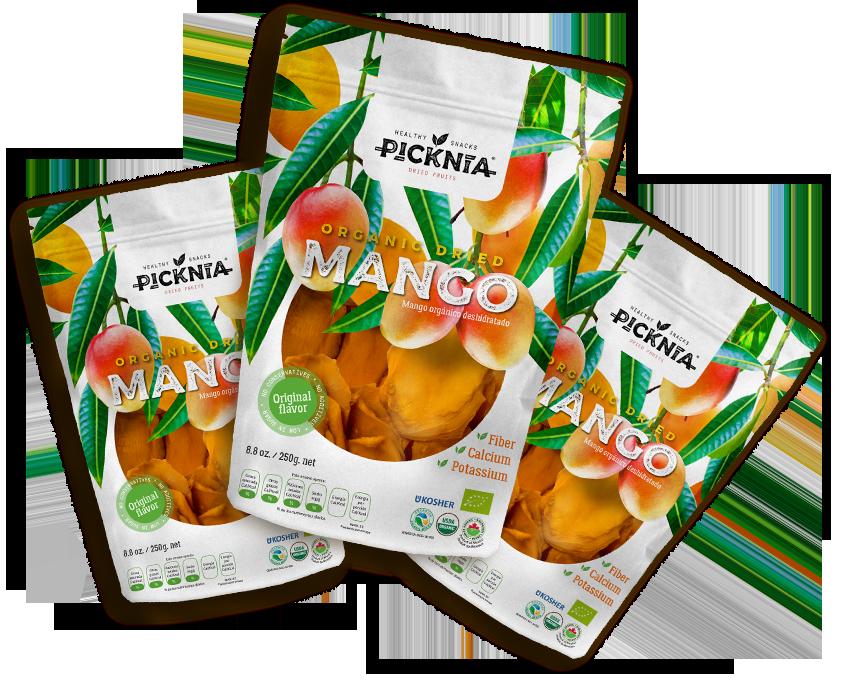 snacks organic dried mango Picknia